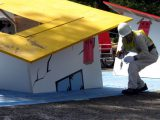 災害建物モデルを使って応急危険度判定デモンストレーション